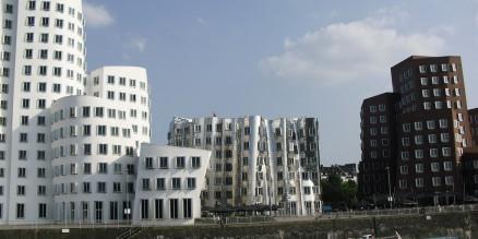 Gehry-Bauten im Mediahafen Düsseldorf