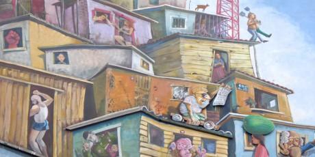 Streetart: Hauswand des Vereins Farbfieber